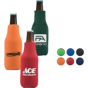 Folding zippered bottle cooler.
