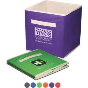 Foldable storage bin that