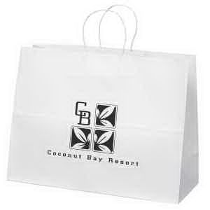 White kraft paper shopper