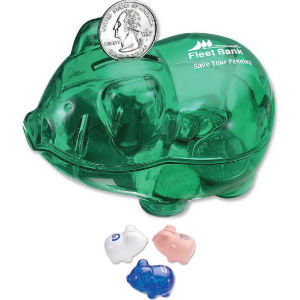 Reusable piggy bank with