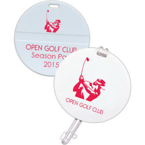 White round golf tag