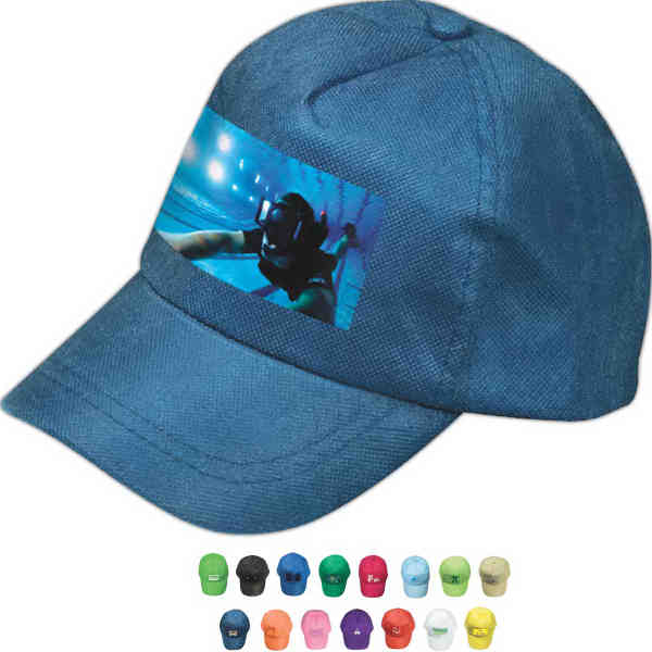 Five-panel non-woven cap with