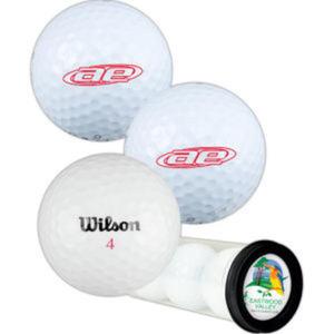 Three golf balls in