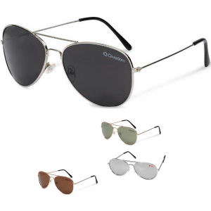 Unisex pilot aviator sunglasses.