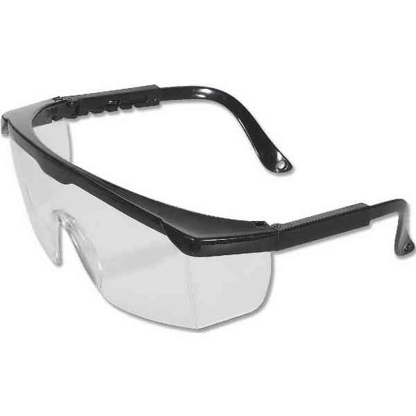 Safety glasses with wrap