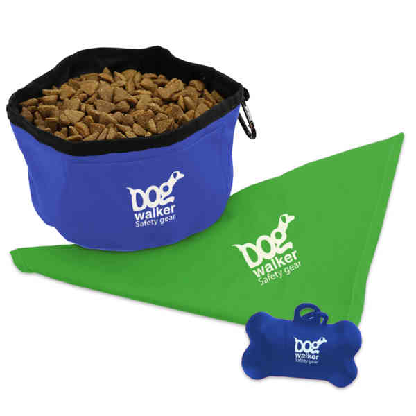 Doggie Bandana, Foldable bowl,