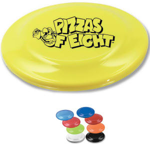 Rigid plastic flying disc.