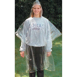 Rain poncho in reclosable