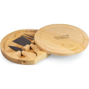 Circular cheese/cutting board.