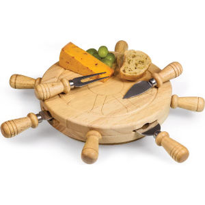 Revolving helm-shaped cheese board