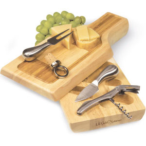 Swivel-style cheese board.