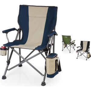 Folding camp chair with