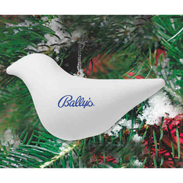 Shatterproof dove ornament with