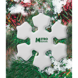 Shatterproof snowflake ornament with