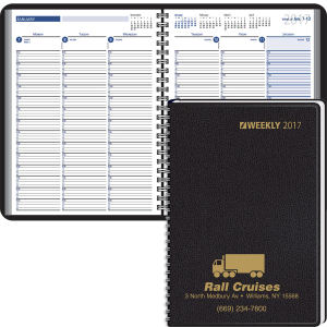Wire bound desk planner