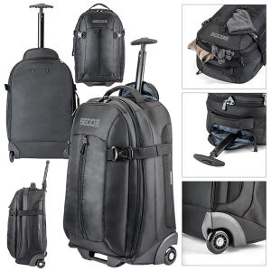 Rolling carry-on bag with