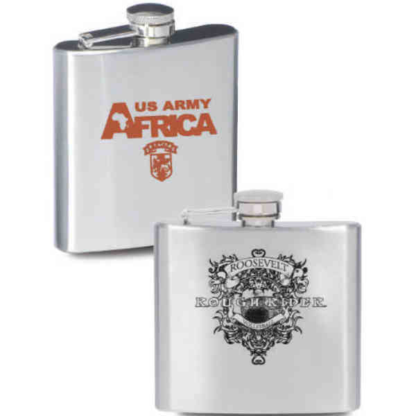 Silver stainless steel flask