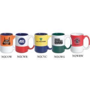 15 oz. ceramic mug.