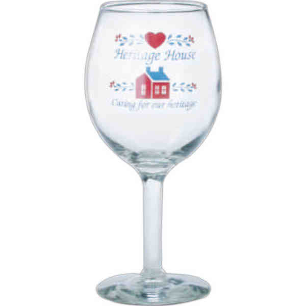 USA-made wine glass with