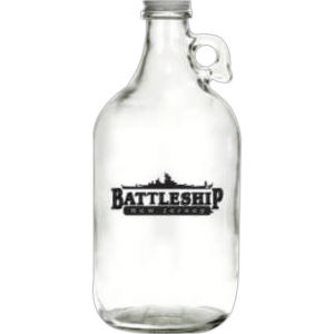 Clear - Glass growler.