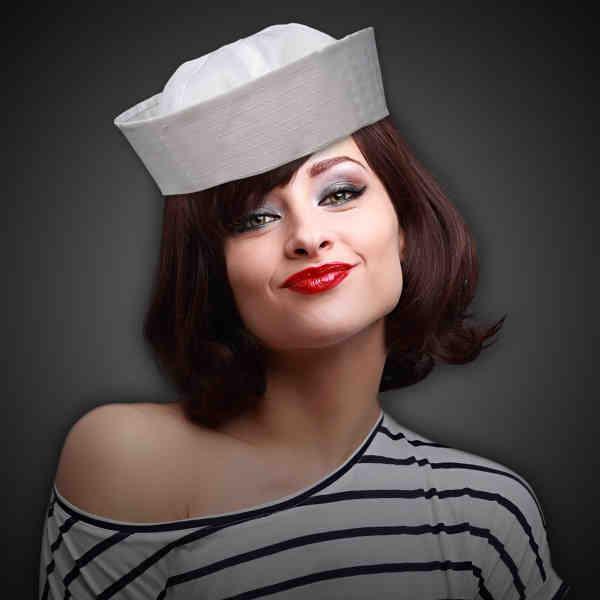 White sailor hat made