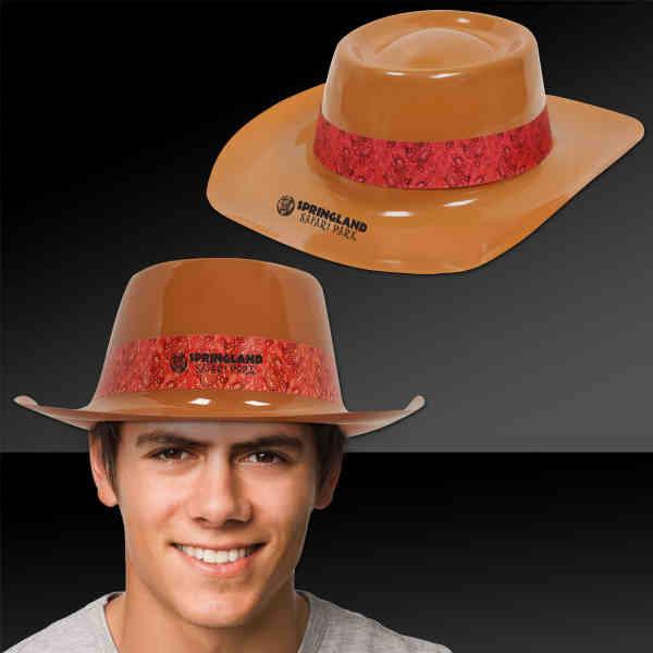 Brown cowboy hat made