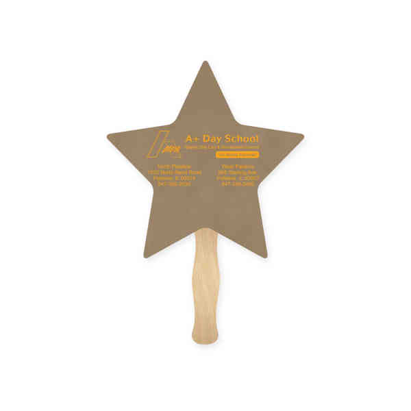 Star shape hand fan,