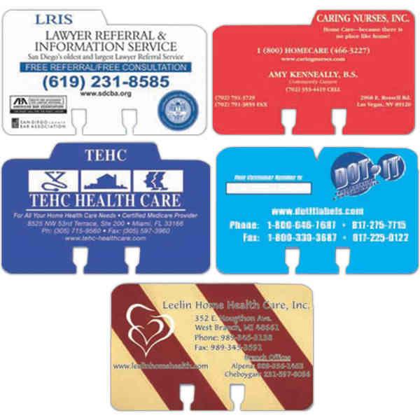 Index card printed on
