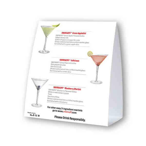 Table top ad tent