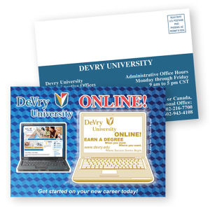 Postcard mailer printed on