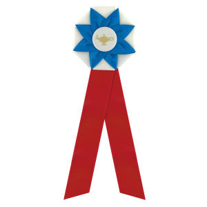 Rosette with two streamers