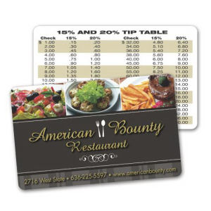 Laminated paper wallet/loyalty card,