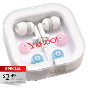Universal stereo earphones. Interchangeable