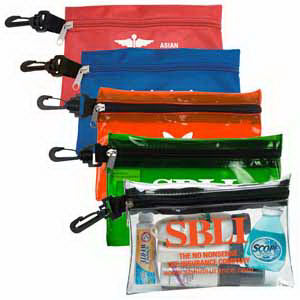 Overseas large zipper pouch