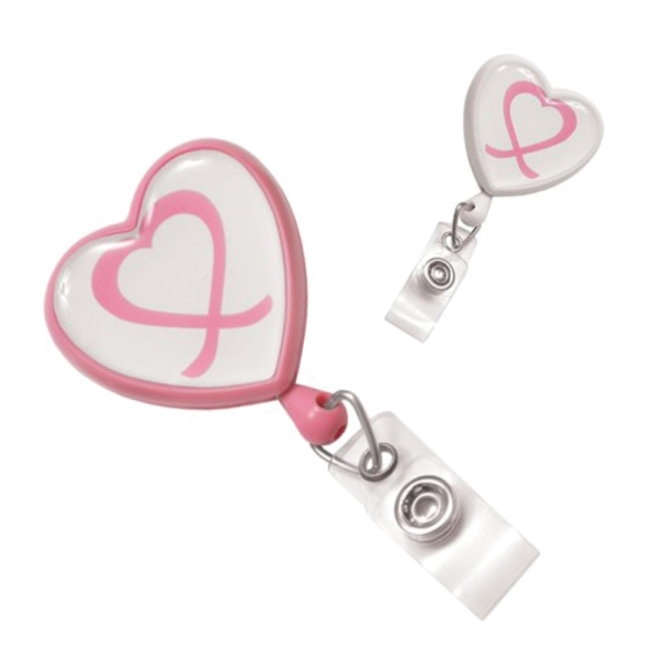 Badge reel for breast