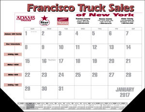 Promotional Calendar Pads-8012LCUSTOM