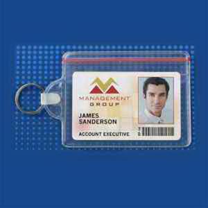 Resealable horizontal data/credit card