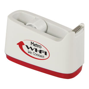 Tape dispenser with white