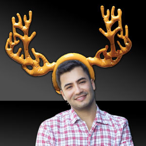Inflatable reindeer antlers, sold