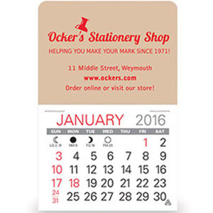 Promotional Stick-Up Calendars-D560
