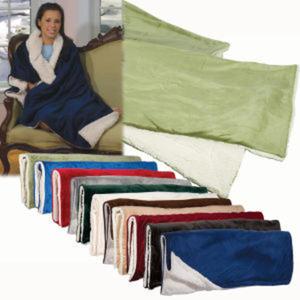 Micro mink sherpa blanket;