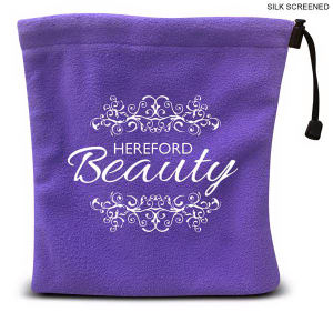 Embroidered - Fleece drawstring