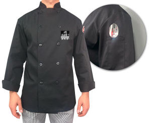 Embroidered - Black chef's