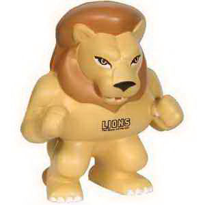 Lion mascot stress reliever.