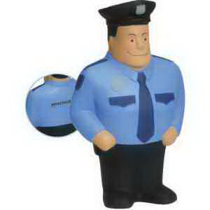 Policeman shape stress reliever.