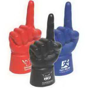 Palm sized foam finger.