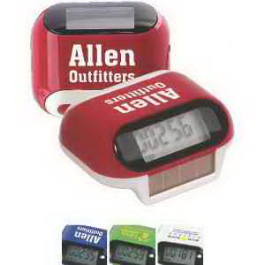 Solar powered pedometer