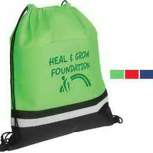 Drawstring bag with safety