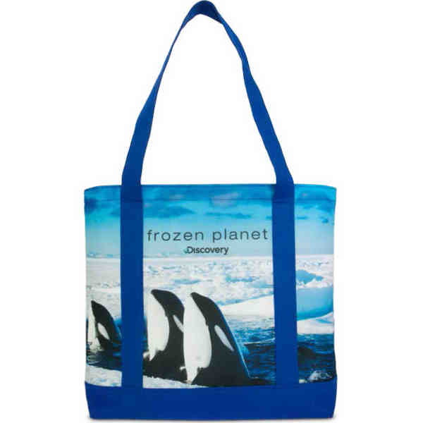 Tote made from recycled