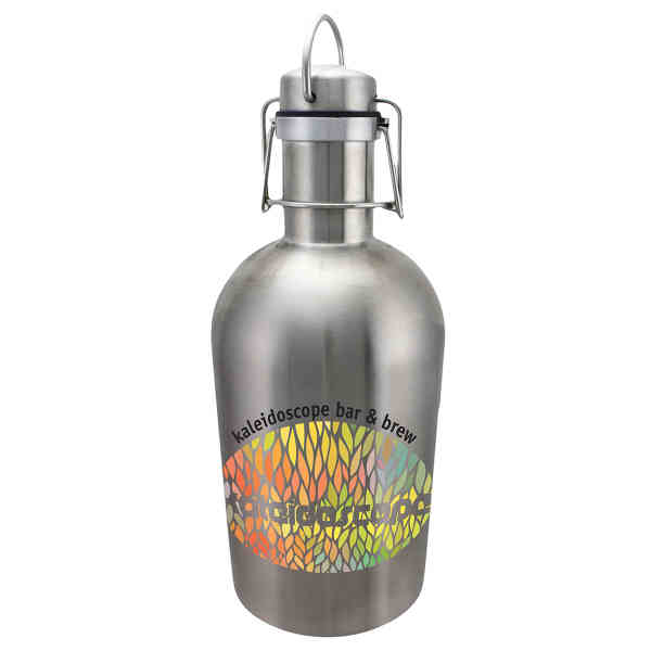Stainless steel growler with